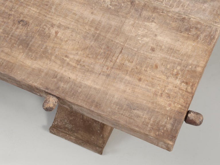 Country Italian Massive Size Dining Table Still in its Original Rustic Finish For Sale 5