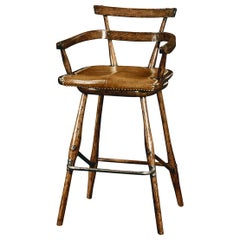 Country Oak Bar Stool