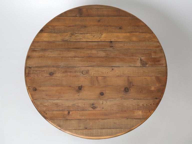 """Reclaimed country pine dining table or kitchen table, that will comfortably seat 8 people, which will allow each person to have a full 23"""" of room. You can actually seat 9-guests at the table and still have over 20"""" of space for each person. We took"""