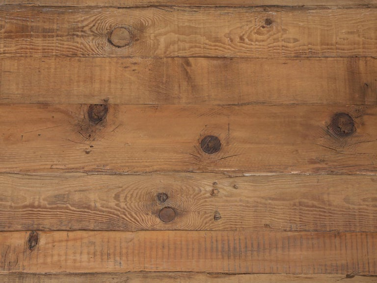 Unknown Country Pine Round Dining Table Seats Up to 9-People Reclaimed Wood For Sale
