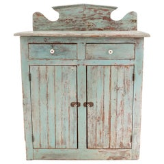 Country Rustic Blue Ontario Cabinet