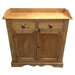Country Scrubbed Pine Farmhouse Server Cupboard Cabinet