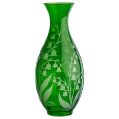 Country Style Crystal Glass Carafe Green Sofina Boutique Kitzbühel