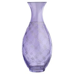 Country Style Crystal Glass Carafe Purple Sofina Boutique Kitzbühel