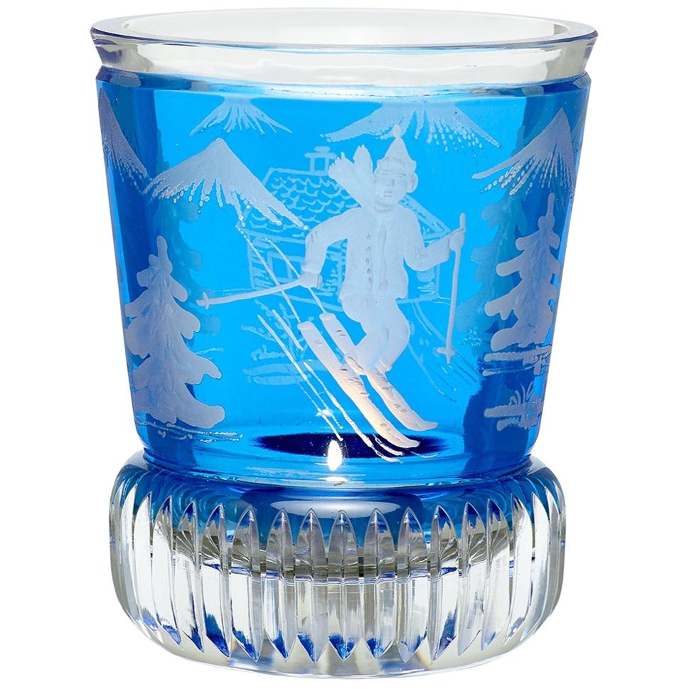 Country Style Crystal Latern in Blue Skiier Decor Sofina Boutique Kitzbühel