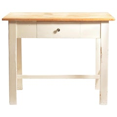 Country Style Farm Table with Drawer, Czechoslovakia, circa 1950s