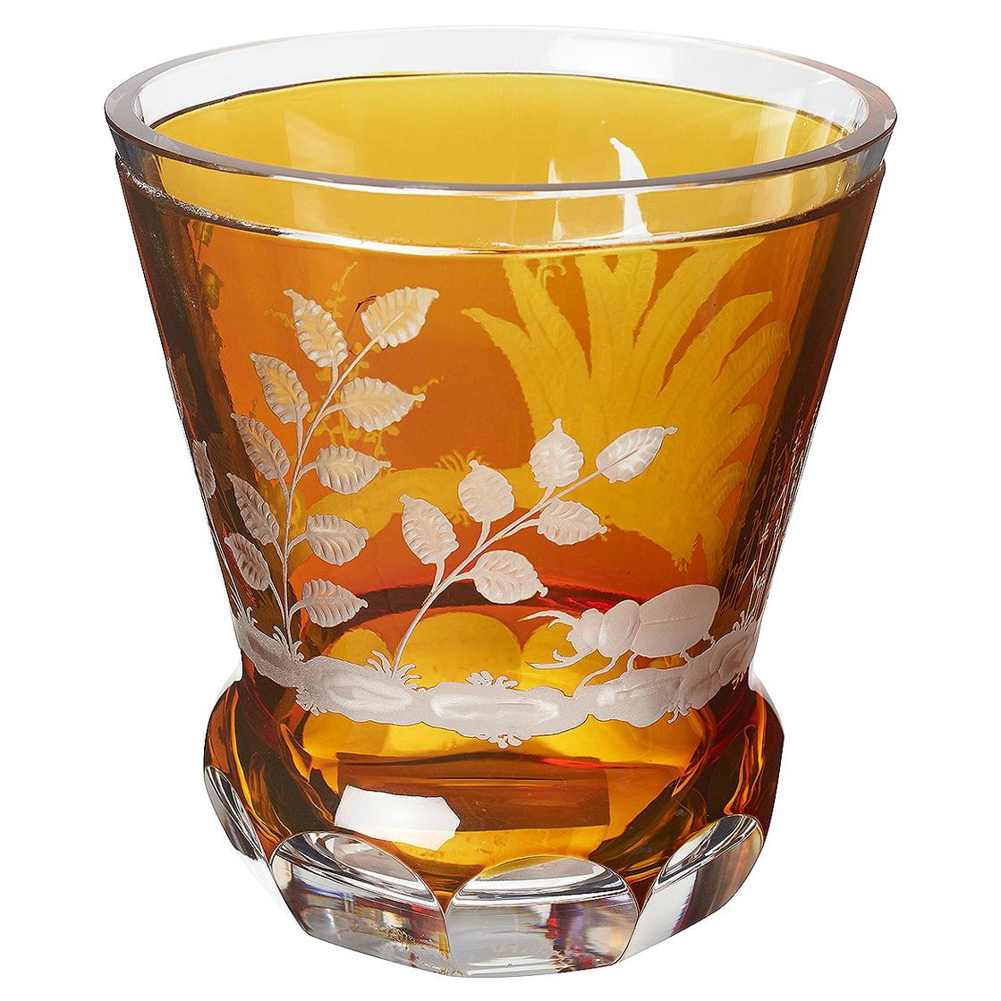 Country Style Hand Blown Crystal Laterne Amber Glass Sofina Boutique Kitzbühel