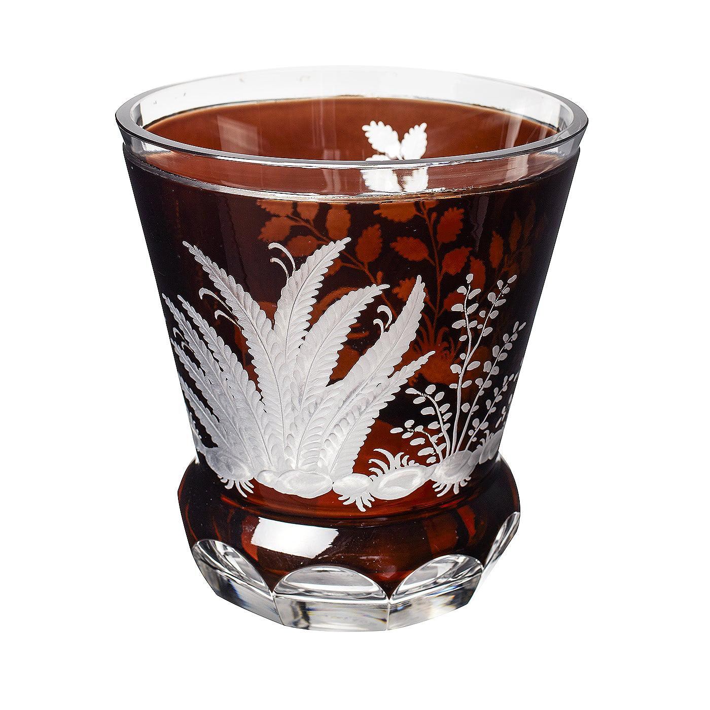 Country Style Hand Blown Crystal Laterne Brown Glass Sofina Boutique Kitzbuehel