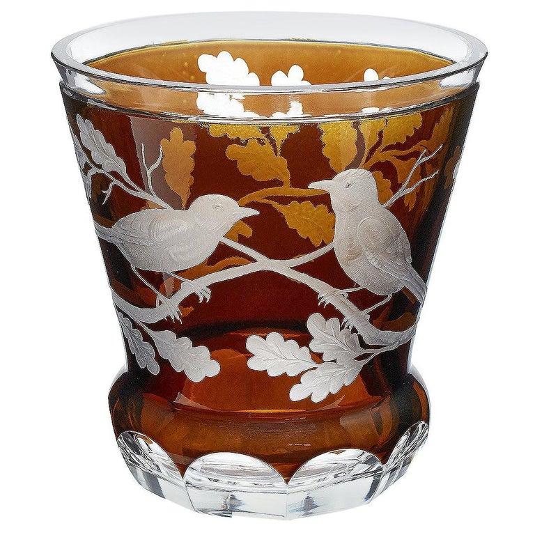 Country Style Hand Blown Crystal Laterne Brown Glass Sofina Boutique Kitzbühel For Sale