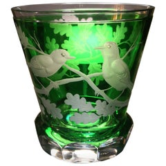 Country Style Hand Blown Crystal Laterne Green Glass Sofina Boutique Kitzbuehel