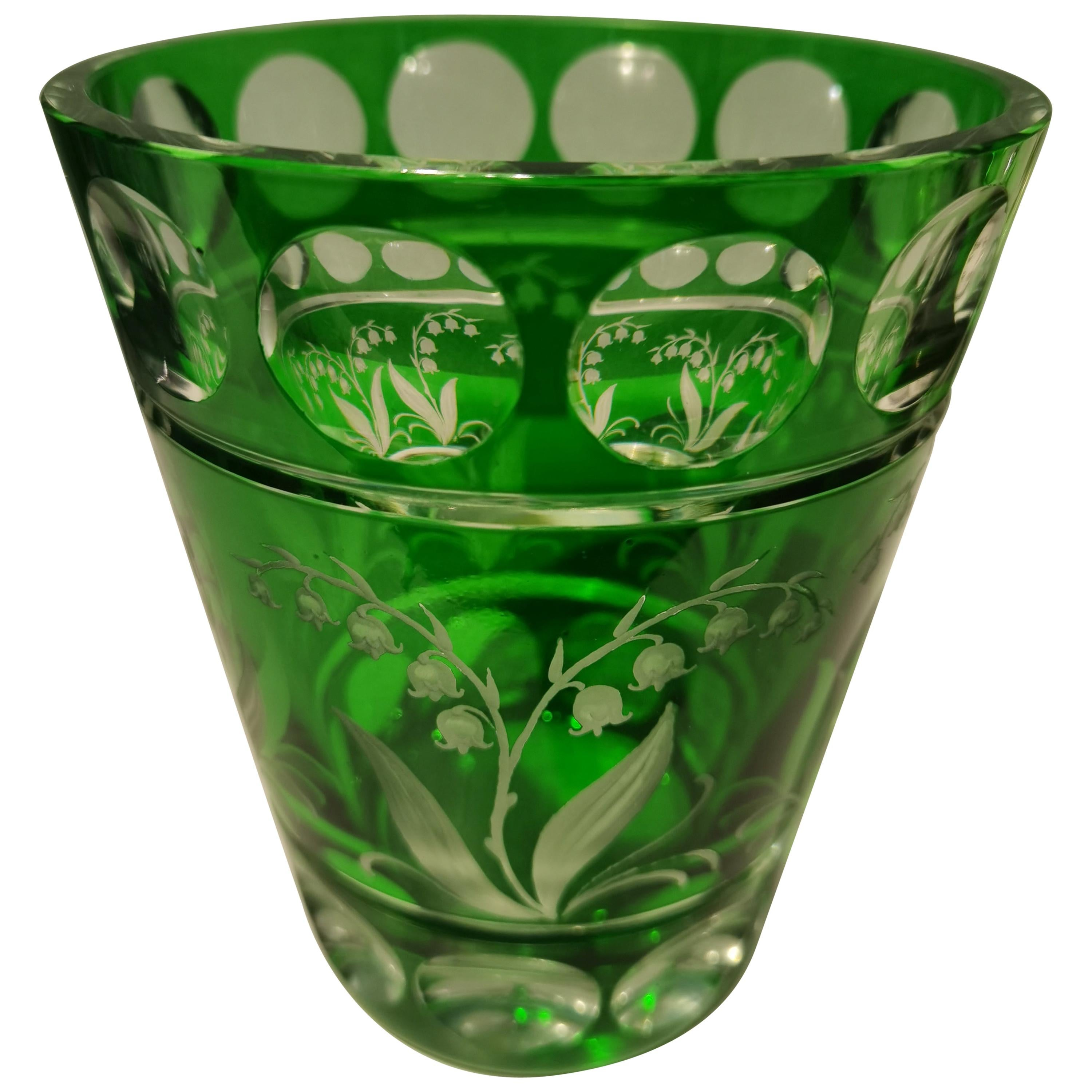 Country Style Hand Blown Crystal Vase Green Sofina Boutique Kitzbuehel