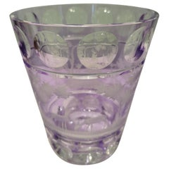 Country Style Hand Blown Crystal Vase Purple Glass Sofina Boutique Kitzbühel