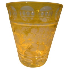 Country Style Hand Blown Glass Vase with Flower Decor Sofina Boutique Kitzbühel