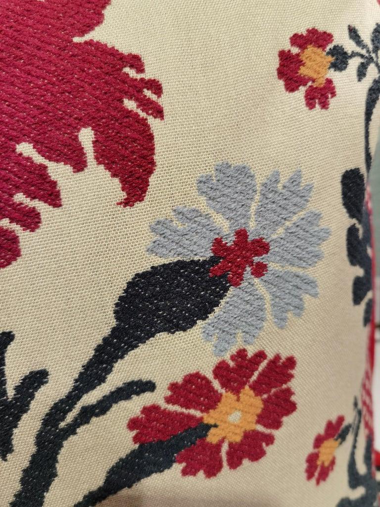 Austrian Country Style Handmade Cushion Sofina Boutique Kitzbuehel For Sale
