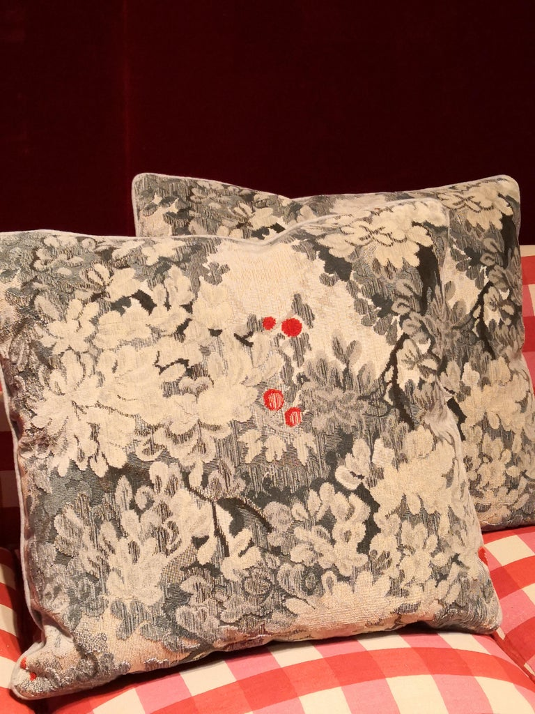 Contemporary Country Style Handmade Cushions Velvet Sofina Boutique Kitzbuehel For Sale