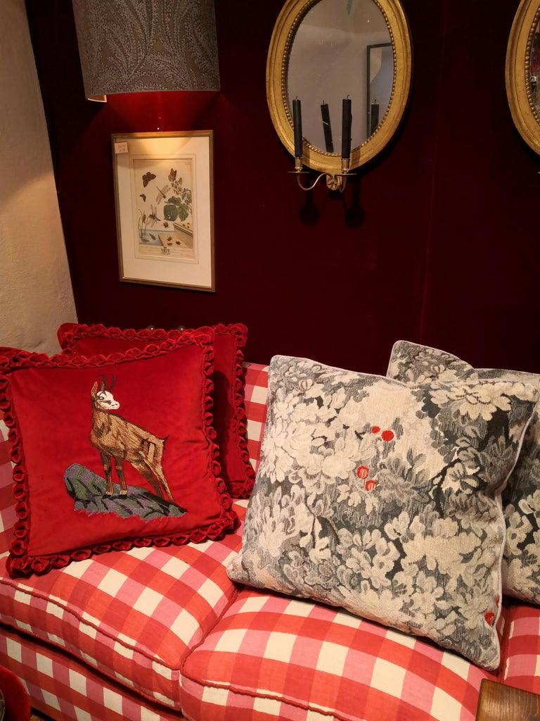 Country Style Handmade Cushions Velvet Sofina Boutique Kitzbuehel For Sale 1