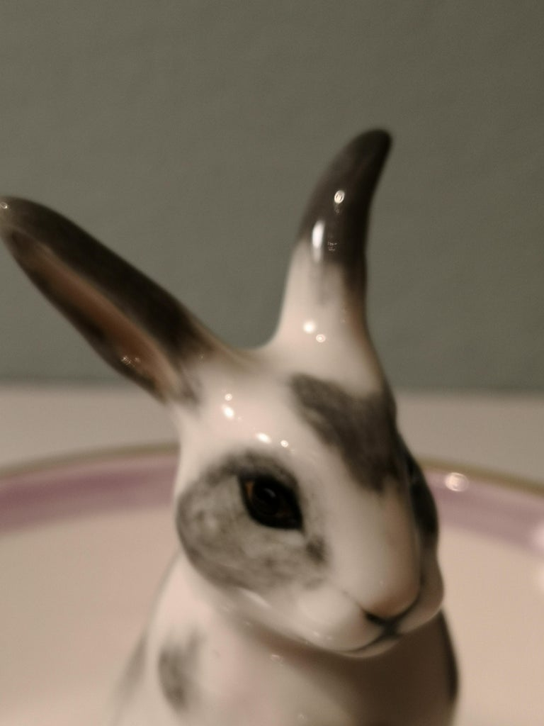 Country Style Porcelain Bowl Easter Bunny Figure Sofina Boutique Kitzbuehel In New Condition For Sale In Kitzbuhel, AT