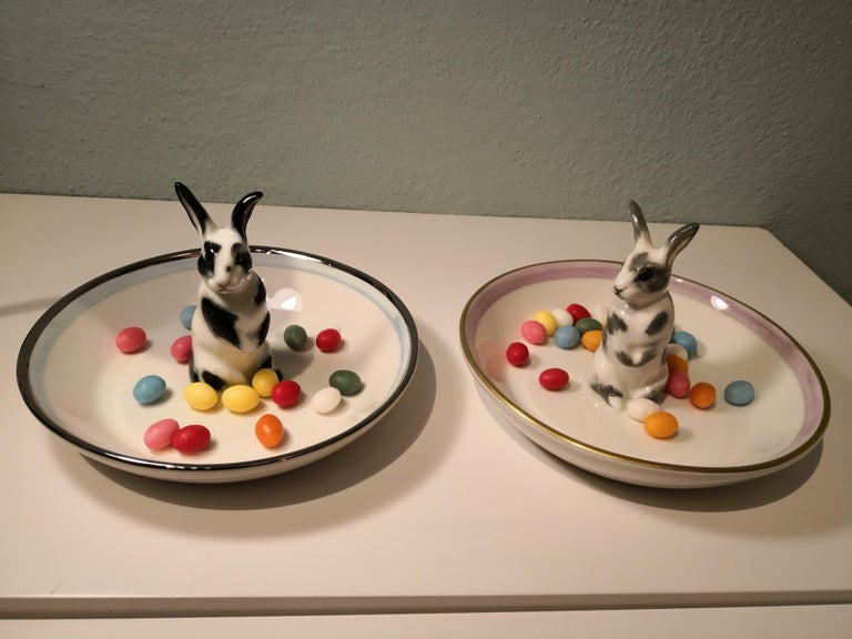 Country Style Porcelain Bowl with Hare Figure Sofina Boutique Kitzbuehel 1
