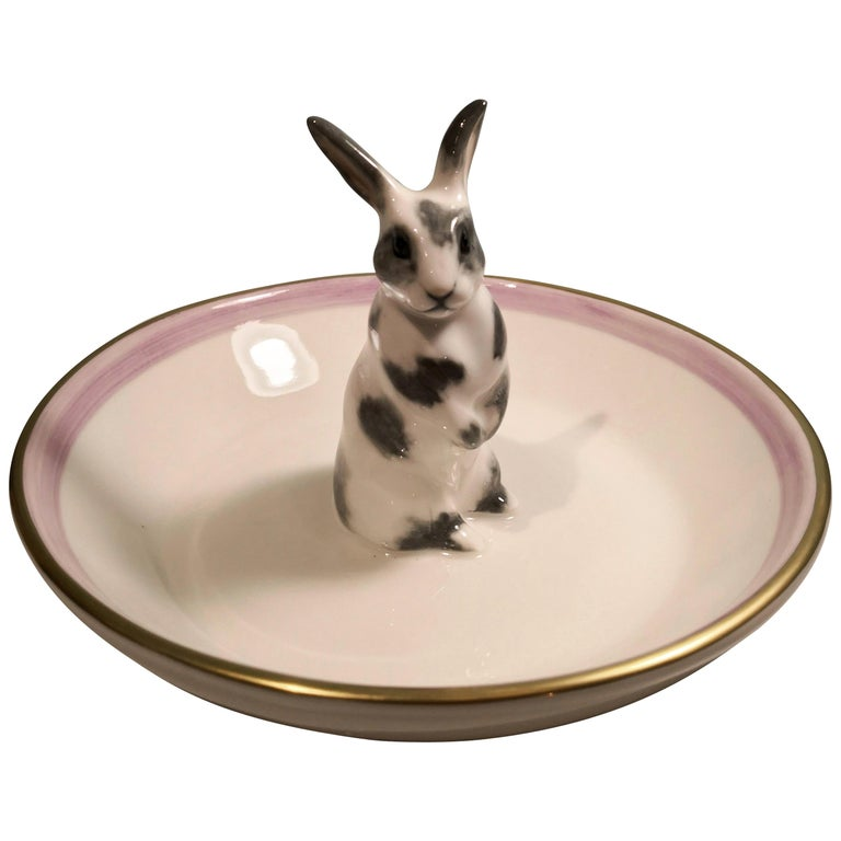 Country Style Porcelain Bowl Easter Bunny Figure Sofina Boutique Kitzbuehel For Sale
