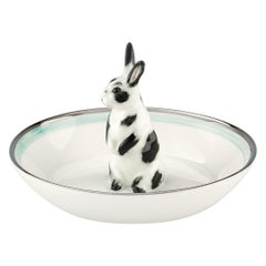 Country Style Porcelain Bowl with Easter Hare Figure Sofina Boutique Kitzbuehel