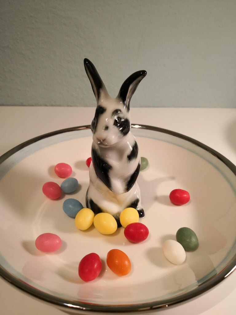 Country Style Porcelain Bowl with Hare Figure Sofina Boutique Kitzbuehel 2