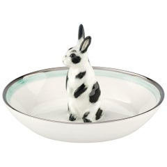 Country Style Porcelain Bowl with Hare Figure Sofina Boutique Kitzbuehel