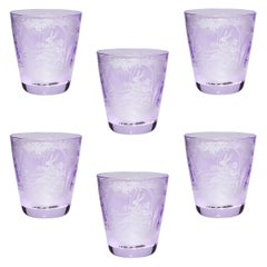 Country Style Easter Set of Six Glass Tumbler Purple Sofina Boutique Kitzbuehel