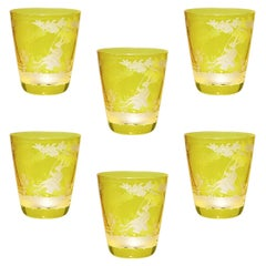 Country Style Easter Set of Six Glass Tumbler Yello Sofina Boutique Kitzbuehel