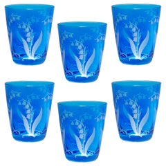 Country Style Set of Six Glass Tumbler Blue Sofina Boutique Kitzbuehel
