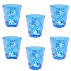 Country Style Set of Six Tumblers Blue Winter Decor Sofina Boutique Kitzbühel