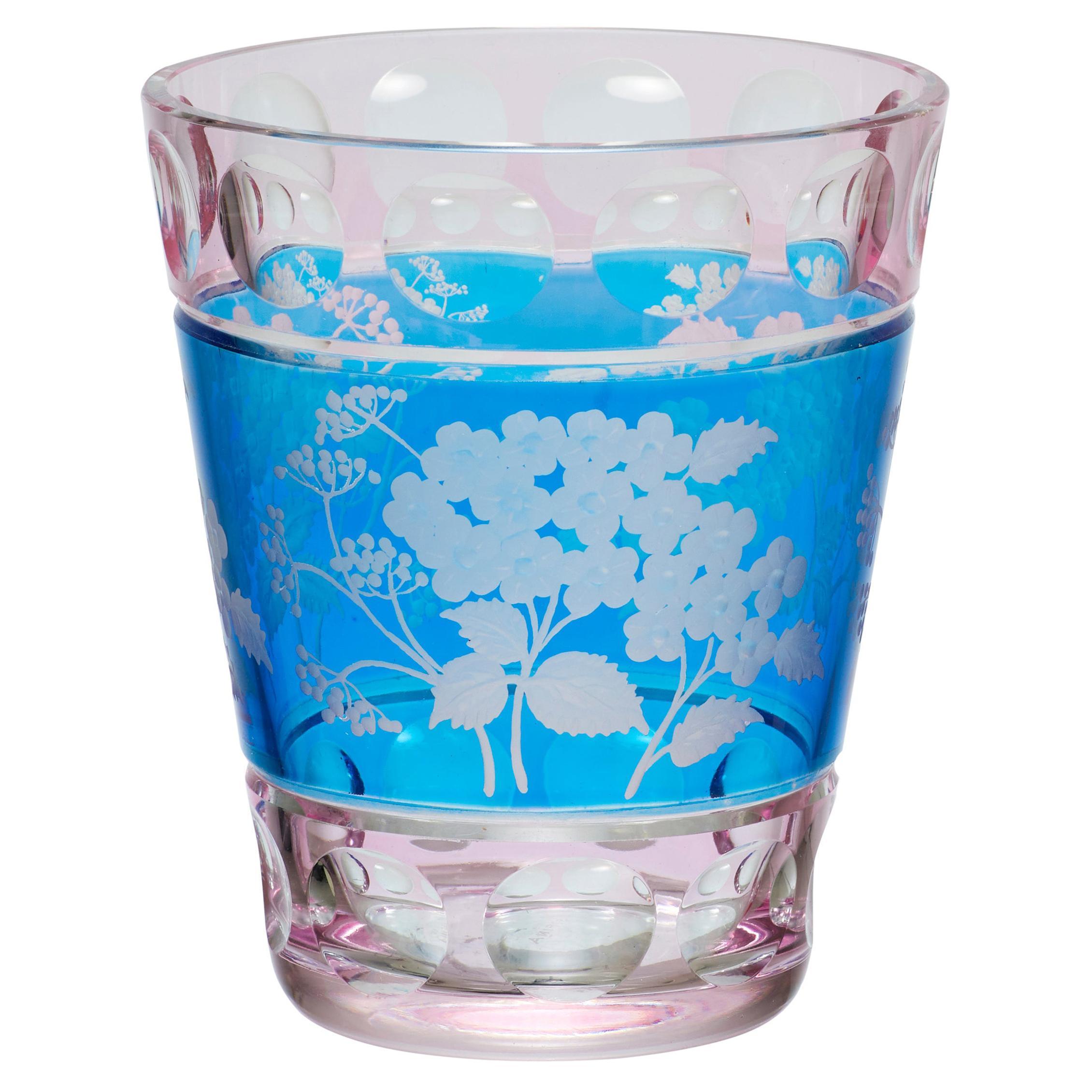Country Style Vase Hand Blown Crystal Hydrangea Decor Sofina Boutique Kitzbuehel