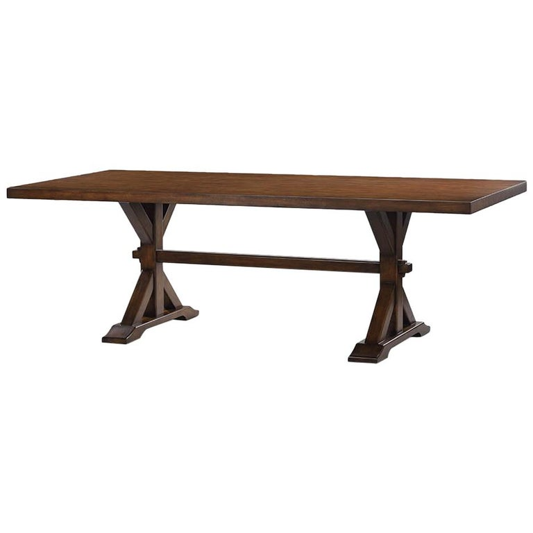 Country Trestle Dining Table For Sale