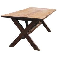 Landstil X rustikaler Tisch auf Sägebock-Beinen