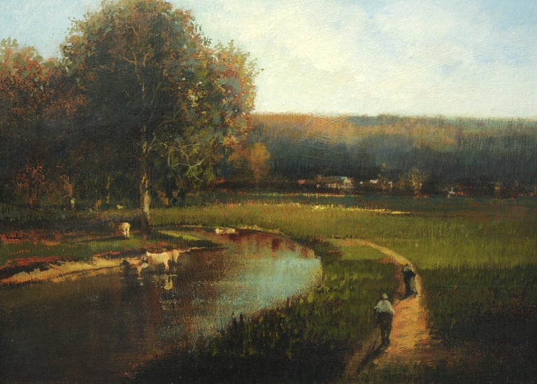 Countryside Landscape Painting by Roy Purdy In Excellent Condition In Washington, DC