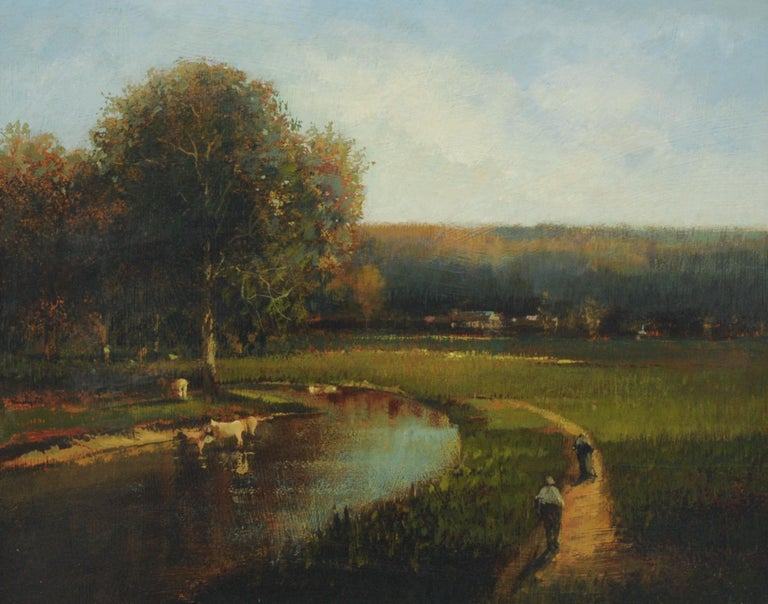 Late 20th Century Countryside Landscape Painting by Roy Purdy