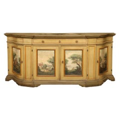 County French Patinated and Hand Painted Buffet