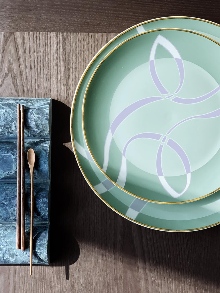 Malaysian Coupe Charger Mid Century Rhythm André Fu Living Tableware New For Sale