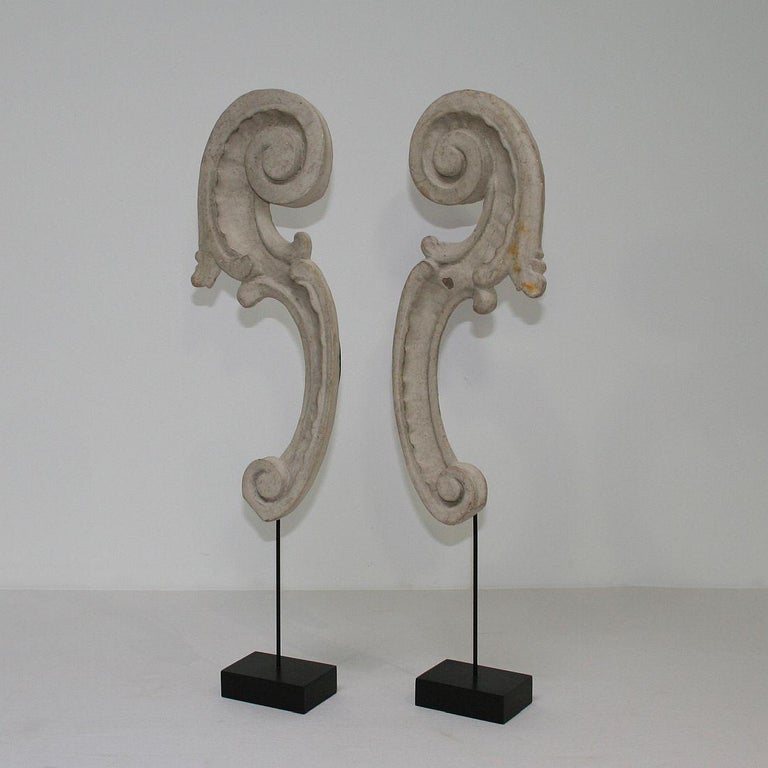 Beautiful Baroque carved wooden fragments with great patina.