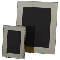Couple of 1940s French Hollywood Regency Mirror Picture Photo Frames