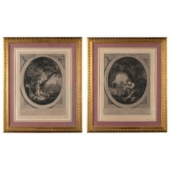 Couple of 19th Century French Engravings in Gilt Frames