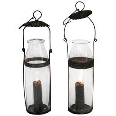 Couple of 19th Century French Glass Lanterns