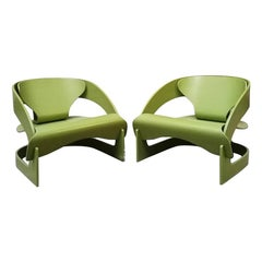 Couple of 4801 Armchair by Joe Colombo for Kartell, 1964