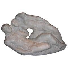 """Couple of Dansers"" Marble Sculpture by Jacques Gestalder"