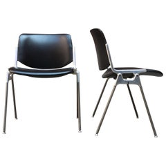 Couple of DSC 106 Leather Chairs, 1965