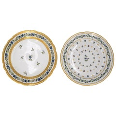 Couple of Porcelain Saxony Plates, 19th Century