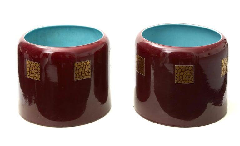 Other Couple Porta Vasi Ceramic 1930 Italy  For Sale