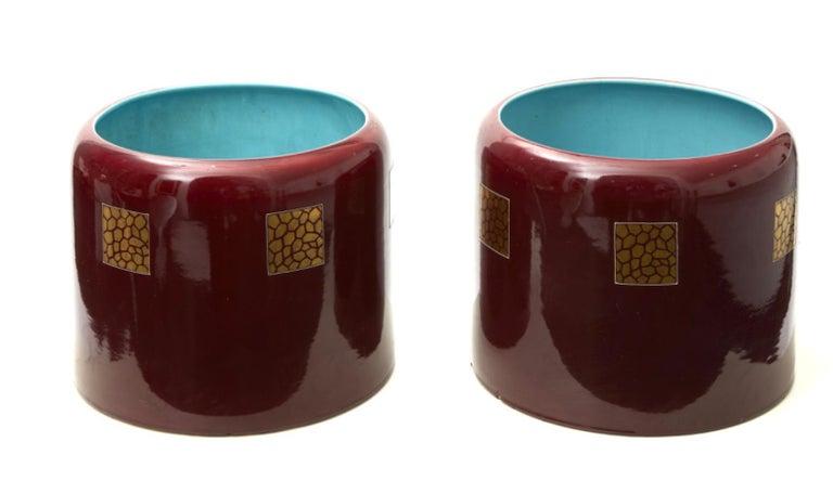 Couple Porta Vasi Ceramic 1930 Italy  For Sale 2