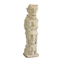 Courage, Artwork, Dominic Hurley, English, Sculpture, Bath Stone, Totem Pole