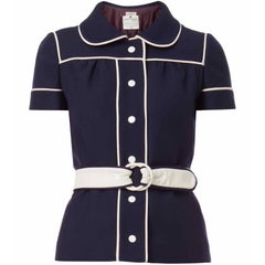 Courreges, navy and white jacket, circa 1968