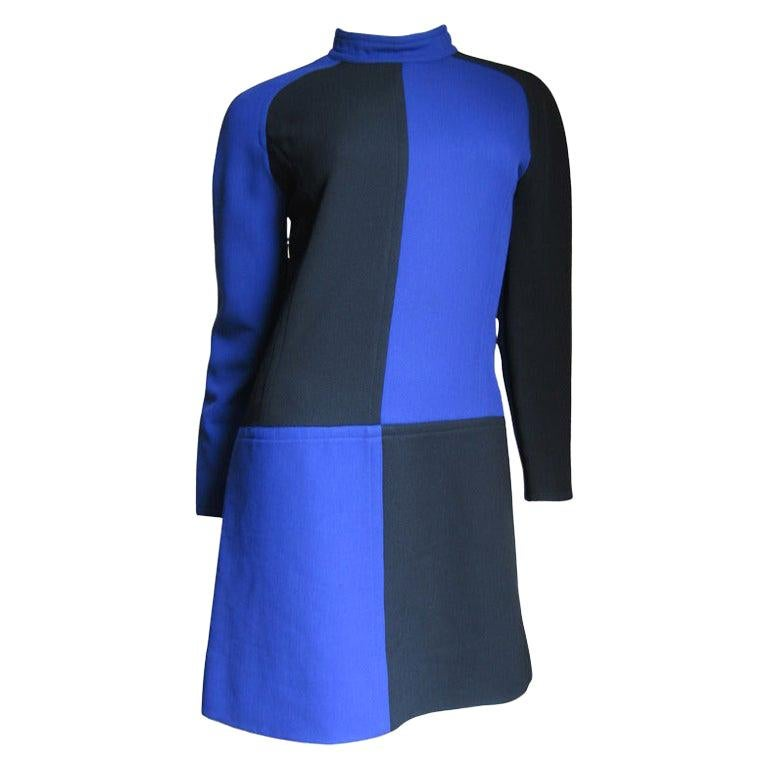 Courreges 1960s Color Block Dress